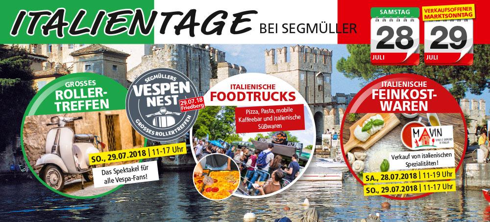 Veranstaltung Italientage Und Großes Rollertreffen Bei Segmüller In